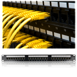 FREELINK - FREELINK (E2711) 24 PORT DOLU CAT6 UTP PATCH PANEL