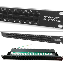 FREELINK - FREELINK (E2728) CAT3 50 PORT ISDN DIK PATCH PANEL