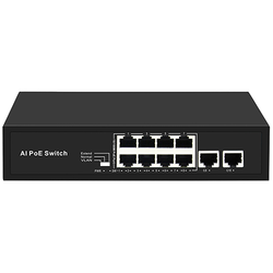 FREELINK - FREELINK (FR-8P2U) 8 PORT 10-100 POE 2xUPLİNK 100M ETHERNET PORT 120W POE SWİTCH