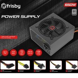 FRISBY 650w FR-PS6580P 12cm Fan 80+ Power Supply (PSU) 2x (6+2pin) Sata - Thumbnail
