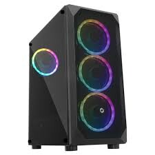 FRISBY - FRISBY FC-9315G 600W 80+ Bronze Siyah Dual-Ring RGB Fan Mid Tower