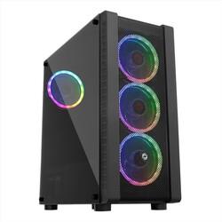 FRISBY - FRISBY FC-9320G 600w 80+ Siyah Dual-Ring RGB Fan Mid Tower