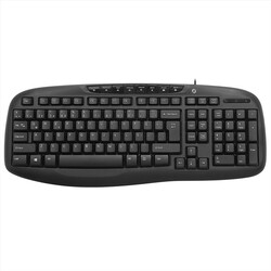 FRISBY - FRISBY FK-4820QU Q Türkçe USB Multimedya Siyah Klavye+ Mouse