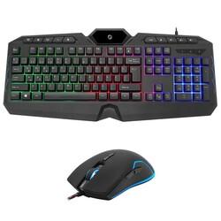 FRISBY - FRISBY FK-4865QU USB Q Trk Optic Mouse RGB Led Aydınlatmalı Siyah Multimedya Klavye - Mouse Set