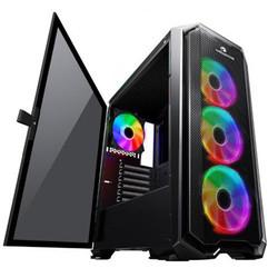 POWER BOOST - GameBooster GB-G2112B USB3.0 Ring ARGB Halo fan Mesh Panel RGB Strip kasa (PSU Yok) (GB-G2112B)