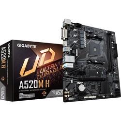 GIGABYTE - GIGABYTE A520M-H DDR4 SATA3 M2 PCIe NVME HDMI DVI PCIe 16X v4.0 AM4 mATX