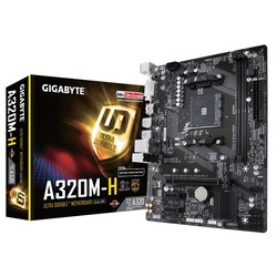 GIGABYTE - GIGABYTE AM4 A320 DDR4 A320M-H 4x Sata 1X M2/X4 HDMI DVI AMD Ryzen Graphics 3x (PCIe) mATX