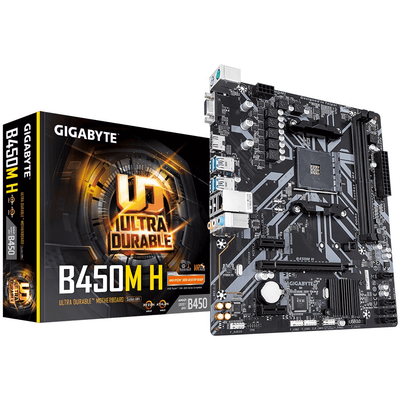 GIGABYTE AM4 B450 DDR4 B450M-H 4x Sata 1X M2/X4 HDMI AMD Ryzen Graphics 3x (PCIe) mATX