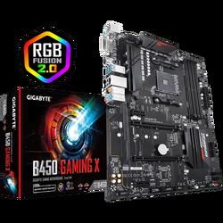 GIGABYTE - GIGABYTE B450 GAMING X AM4 DDR4 SES GLAN HDMI/DVI SATA3 USB3.1 ATX