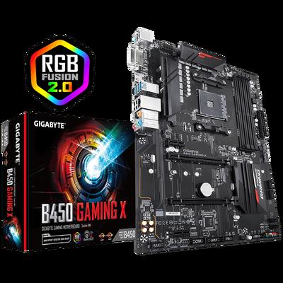 GIGABYTE B450 GAMING X AM4 DDR4 SES GLAN HDMI/DVI SATA3 USB3.1 ATX