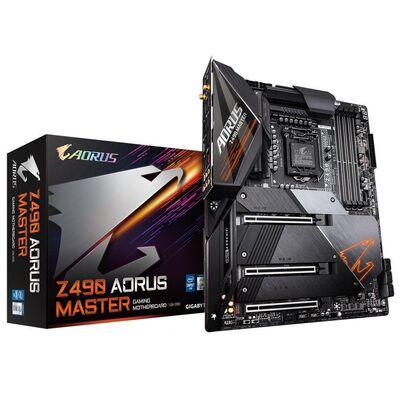 GIGABYTE Z490 AORUS MASTER DDR4 SATA3 M2 PCIe NVME HDMI PCIe 16X v3.0 1200p ATX