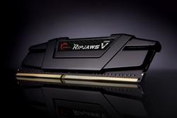 GSKILL - GSKILL RipjawsV Siyah DDR4-3200Mhz CL16 16GB (1X16GB) Single (16-18-18-38) 1.35V (F4-3200C16S-16GVK)
