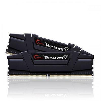 GSKILL RipjawsV Siyah DDR4-3200Mhz CL16 16GB (2X8GB) DUAL (16-18-18-38) 1.35V (F4-3200C16D-16GVKB)