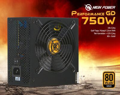 HIGHPOWER 750W 80+ GOLD PERFORMANCE GD APFC POWER SUPPLY HP1-J750GD-F12S