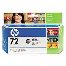 HP - HP C9370A (72) FOTOGRAF SIYAHI 130 ML GENIS FORMAT MUREKKEP KARTUSU