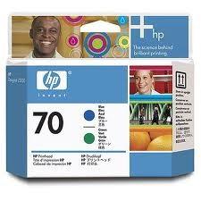 HP - HP C9408A (70) MAVI VE YESIL BASKI KAFASI