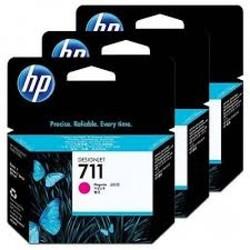 HP - HP CZ135A (711) MACENTA 3 LU PAKET 29 ML GENIS FORMAT MUREKKEP KARTUSU