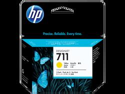 HP - HP CZ136A (711) SARI 3 LU PAKET 29 ML GENIS FORMAT MUREKKEP KARTUSU