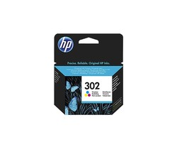 HP - HP F6U65AE Renkli Mürekkep Kartuş (302)