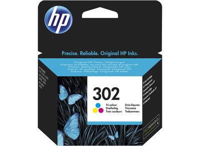 HP F6U65AE Renkli Mürekkep Kartuş (302)