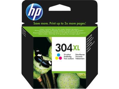 HP N9K07A No 304Xl Yüksek Kapasite Üç Renkli Kartuş