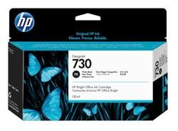 HP - HP P2V67A (730) FOTOĞRAF SİYAHI 130 ML GENIS FORMAT MUREKKEP KARTUSU
