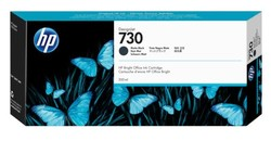 HP - HP P2V71A (730) MAT SİYAH 300 ML GENIS FORMAT MUREKKEP KARTUSU