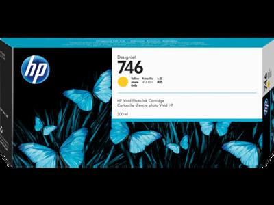 HP P2V79A (746) 300 ML SARI DESIGNJET MÜREKKEP KARTUŞU
