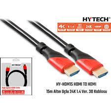 Hytech HY-HDM15 HDMI TO HDMI 15m Altın Uçlu 24K