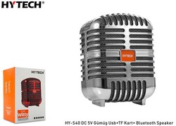 HYTECH - Hytech HY-S40 DC 5V Bluetooth Speaker Gümüş Usb+TF Kart