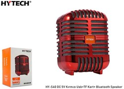 HYTECH - Hytech HY-S40 DC 5V Bluetooth Speaker Kırmızı Usb+TF Kart+