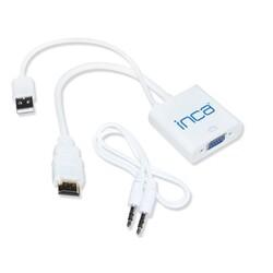 INCA - INCA 0.15metre IHTV-7TB HDMI Vga Dişi Görüntü Adaptörü Beyaz Sesli 1080p