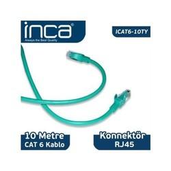 INCA - INCA ICAT6-10TY CAT6 10 METRE YEŞİL KABLO