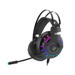 INCA - INCA IGK-TX12 7.1 Surround USB RGB Led Aydınlatma Siyah Titreşimli Gaming Mikrofonlu Kulaklık