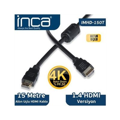 INCA IMHD-150T 15M v1.4 3 D Altın Uçlu HDMI Kablo