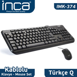 INCA - Inca IMK-374U Multimedya Usb Q Klavye Mouse Set