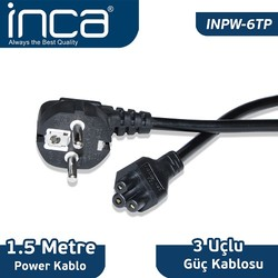 INCA - INCA INPW-6TP 1.5M 0.75Mm Notebook Power Yonca Kablosu