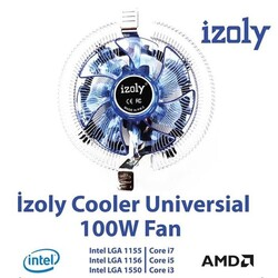 Izoly - IZOLY COOLER UNIVERSAL LED FAN 775-1200P İŞLEMCİ