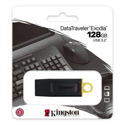 KINGSTON 128GB USB 3.2 Exodia DTX-128GB Siyah Taşınabilir Bellek