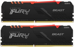 KINGSTON - Kingston 16GB 3200MHz DDR4 CL16 DIMM (Kit of 2) FURY Beast RGB ( KF432C16BBAK216 )