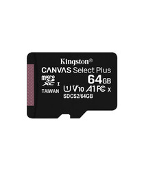 KINGSTON - Kingston 64GB microSDXC Canvas Select Plus 100R A1 C10 Card + Adapter ( SDCS264GB )
