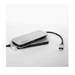KINGSTON Nucleum HUBC1-SR-EN 7port USB 3.1,Type-C,HDMI Kart Okuyucu Gümüş USB Çoklayıcı Hub - Thumbnail