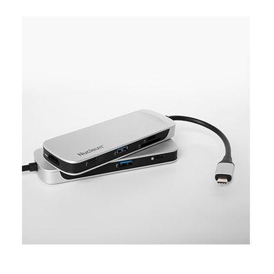 KINGSTON Nucleum HUBC1-SR-EN 7port USB 3.1,Type-C,HDMI Kart Okuyucu Gümüş USB Çoklayıcı Hub