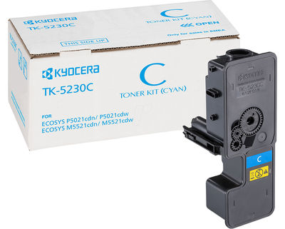 KYOCERA TK-5230C Toner (2200s) Cyan (P5021cdn / P5021cdw / M5521cdn / M5521cdw)