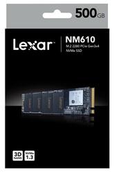 LEXAR - Lexar PCIe M2 500GB NM610 NVMe 3D 2100-1600 3Y Ssd Harddisk