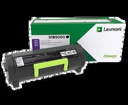 LEXMARK - LEXMARK 51B5000 MS317/417/517/617/MX317/417/517/617 2500 SAYFA SIYAH TONER