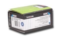 LEXMARK - Lexmark 80C80C0 1.000 Sayfa Cyan Mavi Toner CX310-410-510 808C