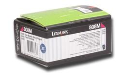 LEXMARK - Lexmark 80C80M0 1.000 Sayfa Magenta Kırmızı Toner CX310-410-510 808M