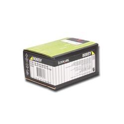 LEXMARK - Lexmark 80C80Y0 1.000 Sayfa Yellow Sarı Toner CX310-410-510 808Y