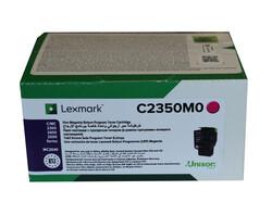 LEXMARK - Lexmark C2350C0 1.000 Sayfa Magenta Kırmızı Toner C2325-2425-2535 MC2325-2425-2535-2640